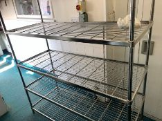"Stainless steel metal mesh racking 59"" x 24"" x 66"""