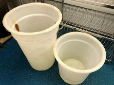"""2 Plastic meat bins 31"""" tall x 26"""" wide"""