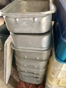 aluminium produce trays 7 in lot