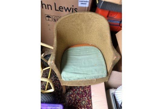 Lloyd Loom style commode chair