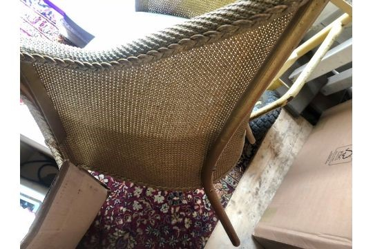 Lloyd Loom style commode chair - Image 2 of 2