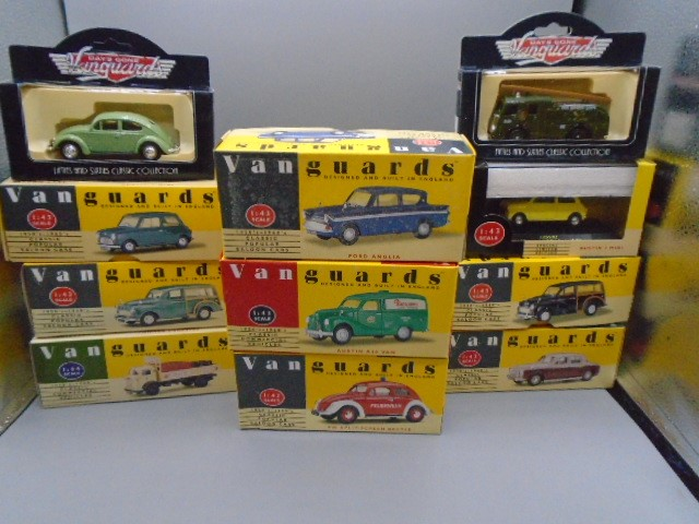 Vanguards die cast model cars x 11