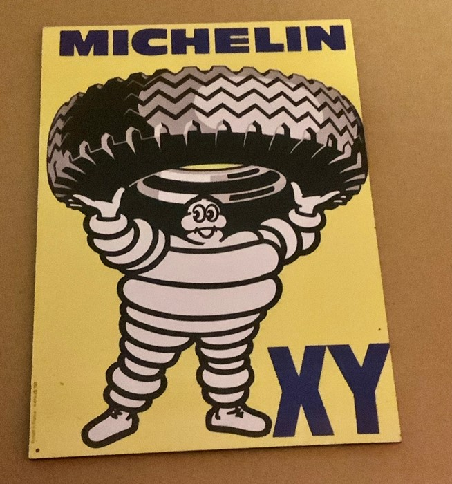 Reproduction Michelin Tyre Sign 21 x 15 cm printed on aluminium