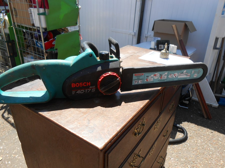 Bosch 40-175 Electric Chainsaw ( house clearance )