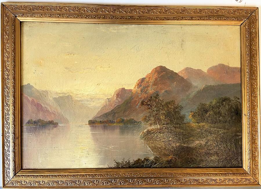 Francis E. Jamieson (British, 1895-1950). Scottish Landscape, oil on canvas of a highland loch