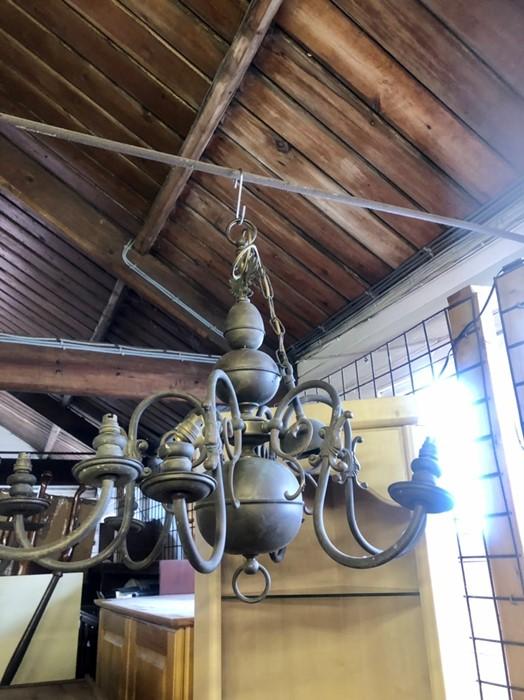 2 Large Brass Chandeliers