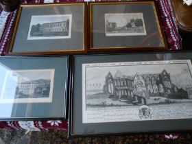 4 Engravings / Prints The North East View of Tintern Abby in the county of Monmouth 14 1/2 x 7 1/2