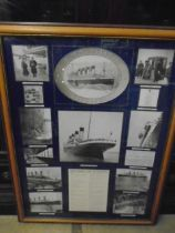 Titanic history of events, framed