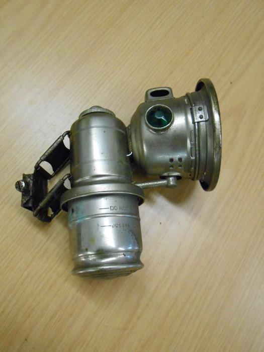 Lucas Calcia Cadet carbide cycle lamp
