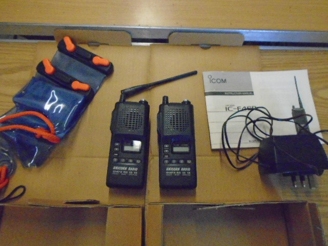Pair of Easiwave CB's ic-f4sr in boxes with manuals and accessories