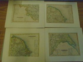 Maps- Yorkshire, North x 2, east, west