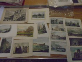 A bundle of 15 plus coloured prints mostly pastroal