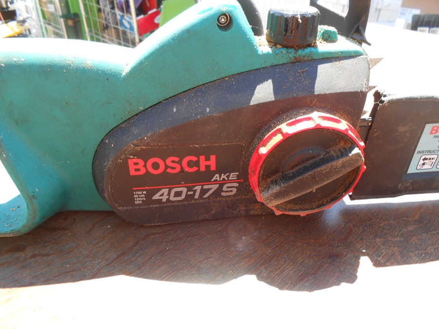 Bosch 40-175 Electric Chainsaw ( house clearance ) - Image 2 of 3