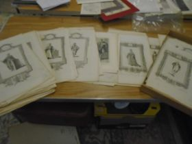"""Book prints Raymonds history of England about 130, 14x9"""". in box"""