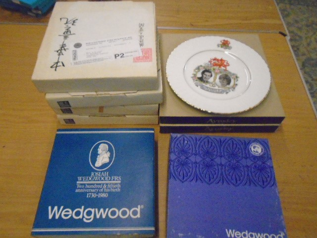 Wedgewood, Aynsley, Queen Ann commemorative picture plates plus set of 4 artists of the world - Image 4 of 4