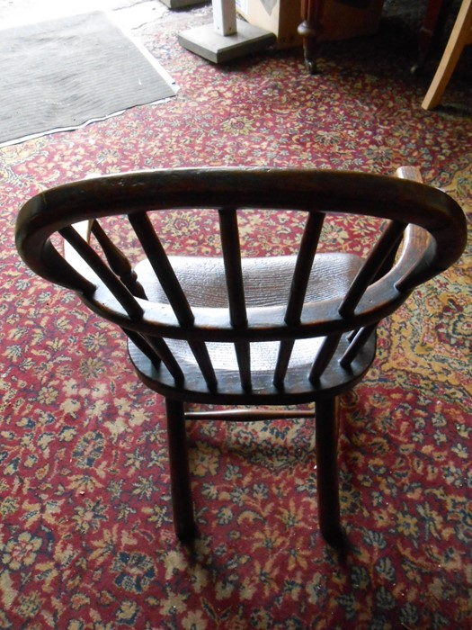 Antique Childs Windsor Chair seat 14 inches wide 10 deep 13 tall overall height 27 inches tall - Image 2 of 5