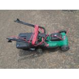 Qualcast mower with grass box