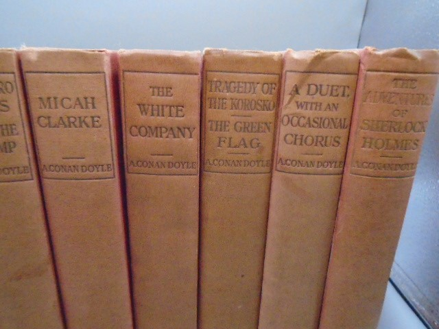 A. Conan Doyle- Authors edition 11 volumes illustrated in red cloth John Murry 1903 - Image 5 of 5