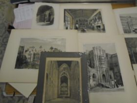 Prints of Old halls and interiors