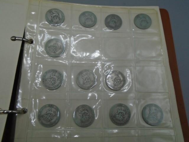 Album of shillings Geo III x 17, Geo IVx3, Geo V x 127 - Image 4 of 11