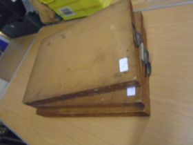 3 wooden box files with possible 100-150 various mixed prints