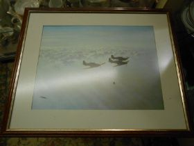 2 Gerald Coulson Aircraft prints 15 1/2 x 11 1/2 inches