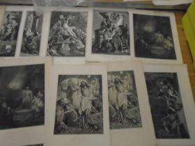 """Prints Religious black and white 15 plus, 13x10"""""""