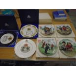 Wedgewood, Aynsley, Queen Ann commemorative picture plates plus set of 4 artists of the world