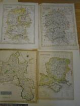 Maps Wiltshire (2) Oxfordshire, Hampshire