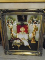 framed picture of Barbara Cartland