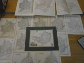 Maps a collection of Monmouthshire one with coloured mount plus others