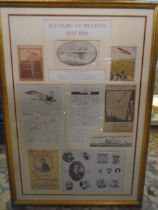 Aviators of Hendon 1910-1914 framed and mounted prints and clippings
