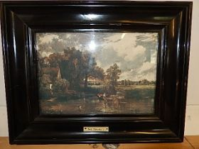 The Hay-wain print with newspaper article of location on rear 35x27cm