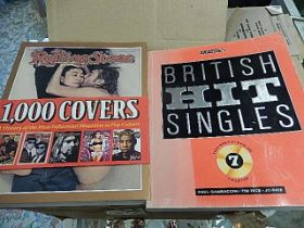Rolling stones 1,000 covers book and British hit singles book