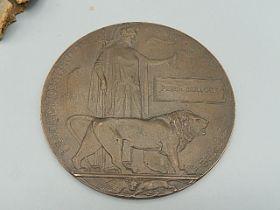 Great War Battle of Festubert Memorial Plaque awarded to Rifleman P. Bullock, 1st Battalion, King'