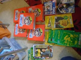Ipswich and Norwich football programmes from from early noughties, 5 football magic folder