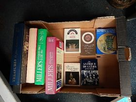 books relating to antiques, silver, glass etc