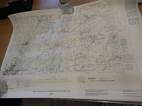 Battle of the Somme repro ground maps