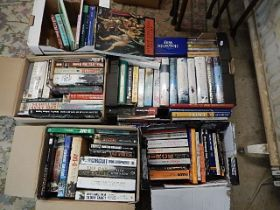 5 boxes of books