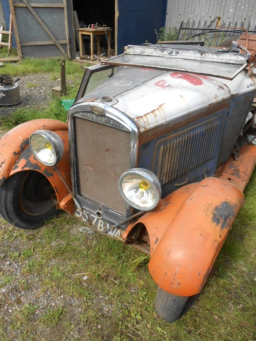 1930 Peugeot Torpedo type 201, in need of restoration currently on a trailer with all the parts - Image 16 of 17