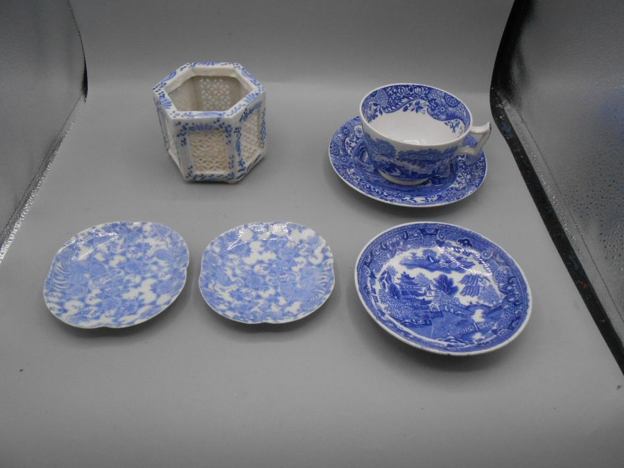 Assorted Blue and White China