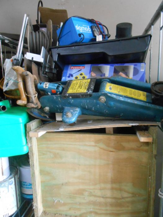 Half Stillage of Tools etc etc there are some tins of paint included look at the photos buyer clears - Image 23 of 25