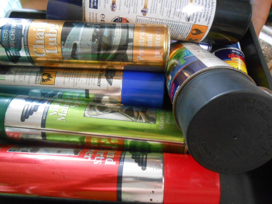 Half Stillage of Tools etc etc there are some tins of paint included look at the photos buyer clears - Image 16 of 25