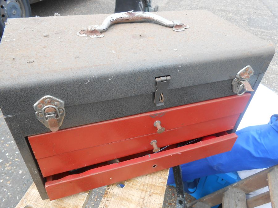 Half Stillage of Tools etc etc there are some tins of paint included look at the photos buyer clears - Image 5 of 25