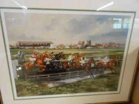 Fakenham Races Vic Granger Racing at Fakenham Ltd Edition Print no 71 of 350 21 x 16 inches