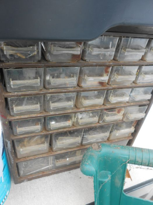 Half Stillage of Tools etc etc there are some tins of paint included look at the photos buyer clears - Image 8 of 25