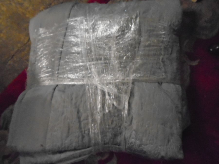 Half a Stillage of Laundered Bed Linen from local hotel single up to king size sheets , pillow cases