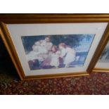 Half Stillage of modern framed Prints ( stillage not included ) glass broken on one picture and