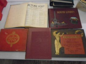 Vintage hard back books 'His Majesty the King' 'The Queens Empire' 'Round the world' x2 and one