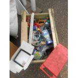 Half Stillage of Tools etc etc there are some tins of paint included look at the photos buyer clears